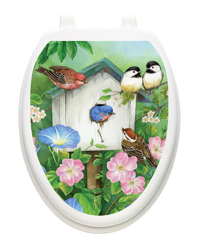 Birds and Botanical Toilet Tattoo Designs