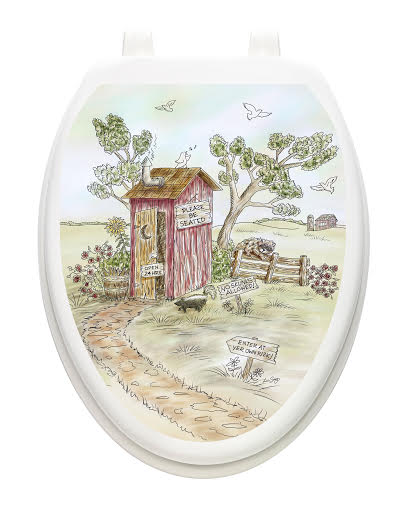 Rustic Toilet Tattoos.